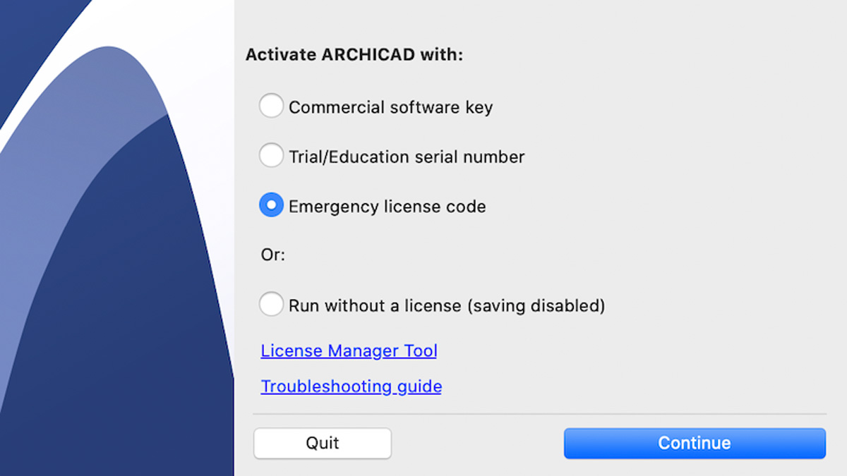 archicad emergency license