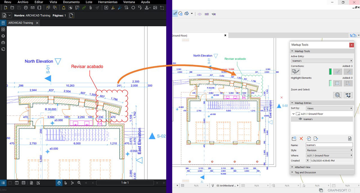 BLUEBEAM Revu BIM workflow with ARCHICAD