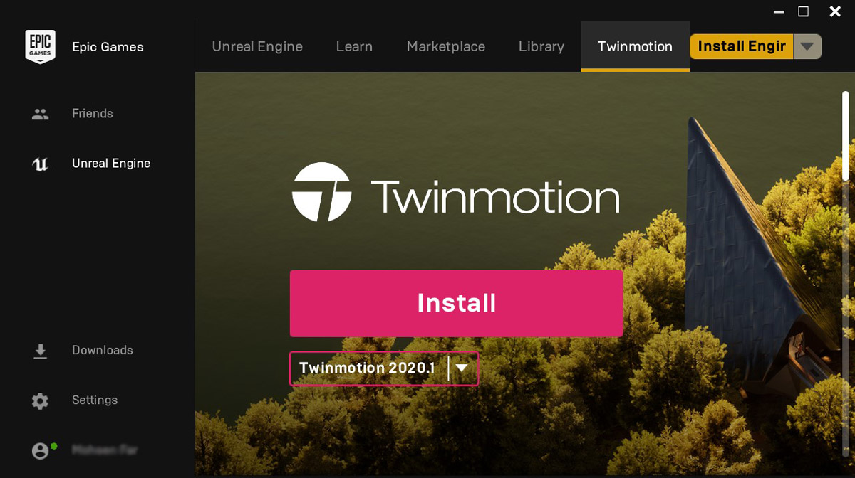 install twinmotion 2020