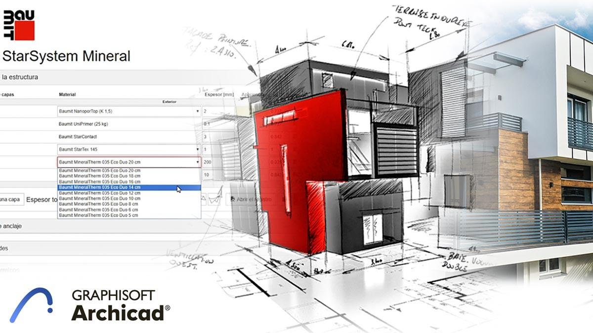 Creación automática de Sistemas de Aislamiento Térmico por el Exterior (SATE) en Archicad