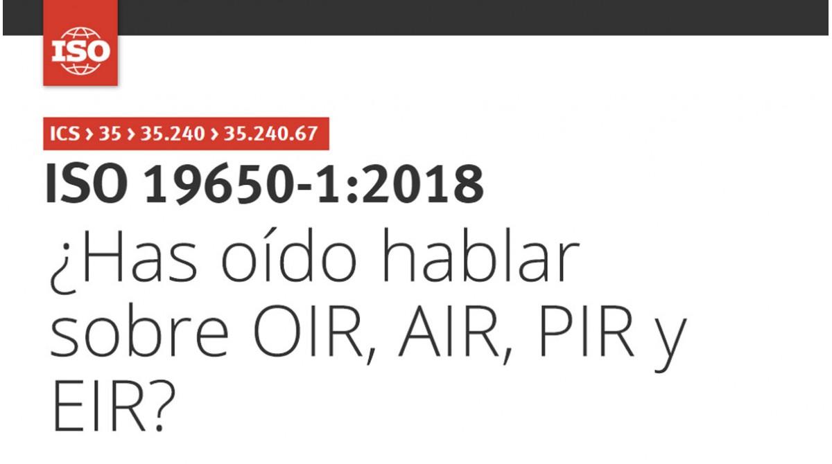 ¿Has oído hablar sobre OIR, AIR, PIR y EIR?