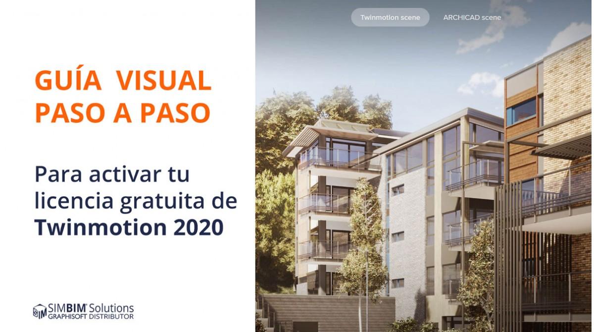 Guía visual paso a paso para activar la licencia gratuita de Twinmotion 2020 para usuarios de ARCHICAD