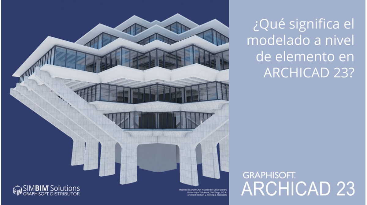 What does element-level modeling mean in ARCHICAD 23?
