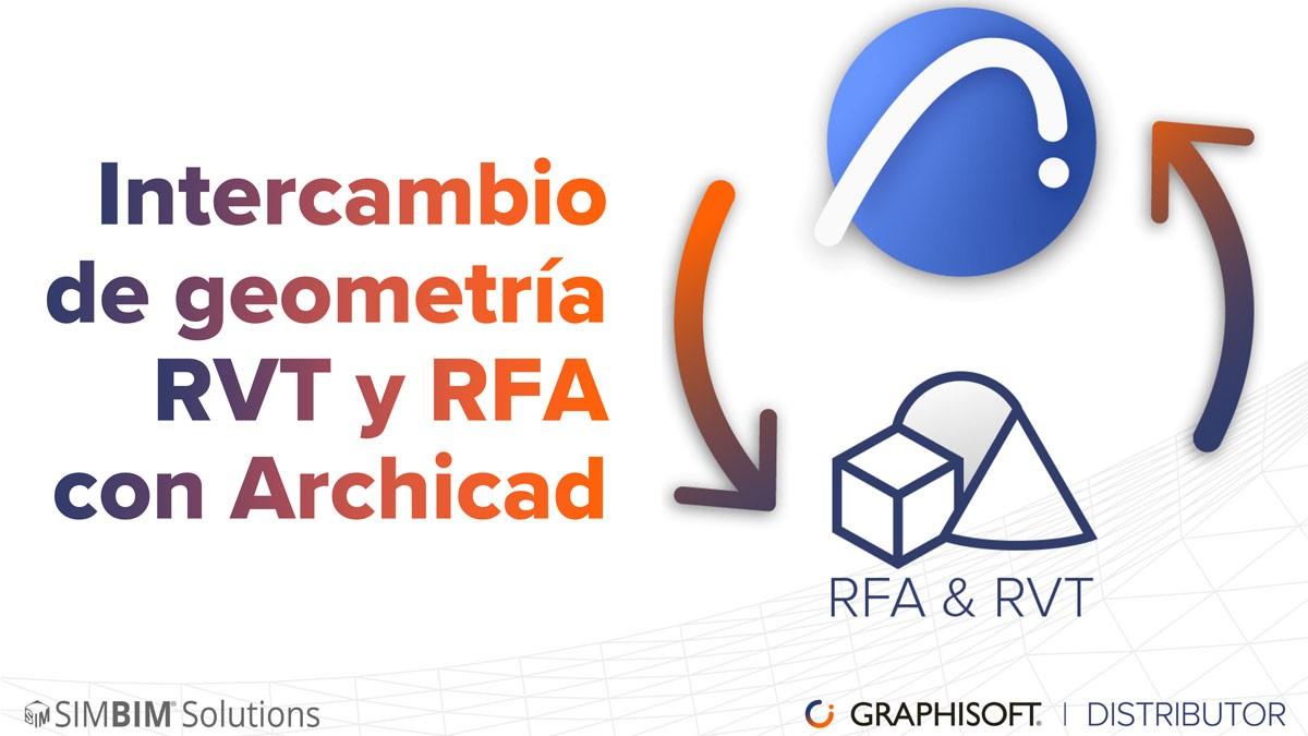 Intercambio de geometría RVT y RFA con Archicad