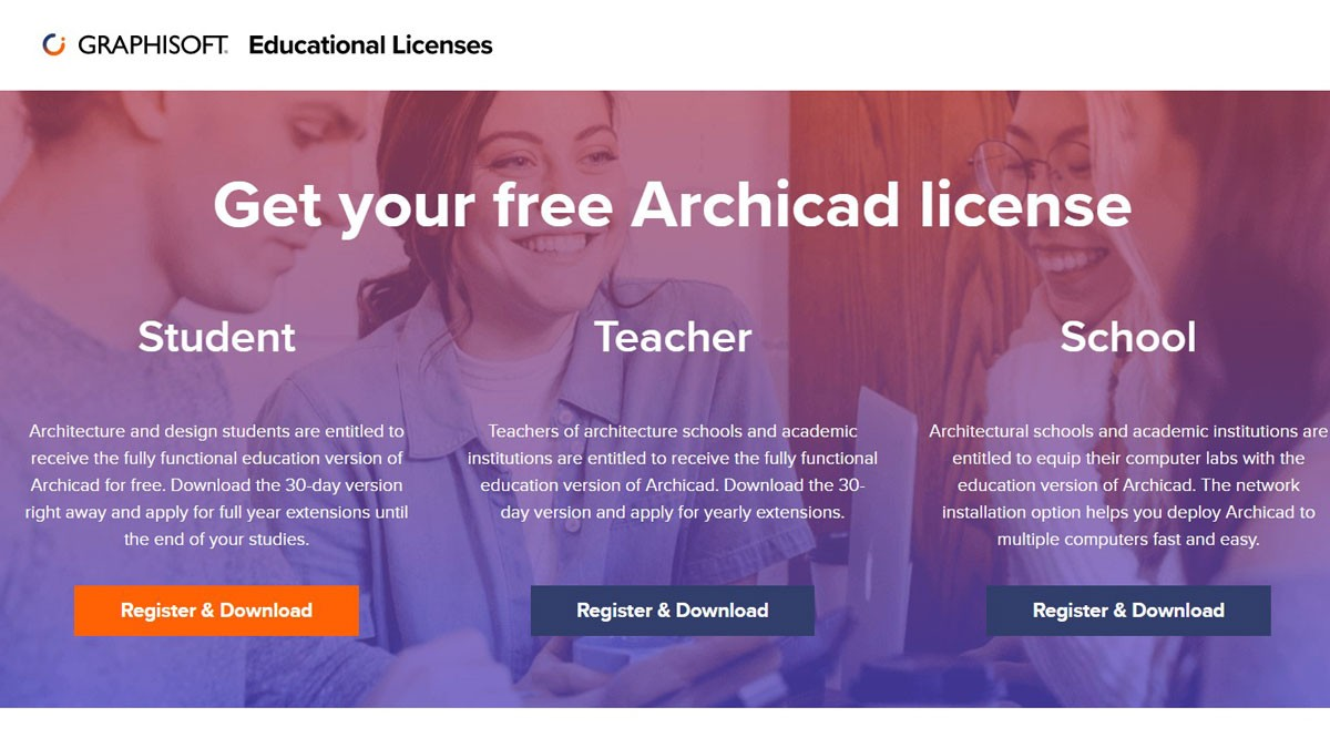 Archicad is free for students, educators, researchers, and schools