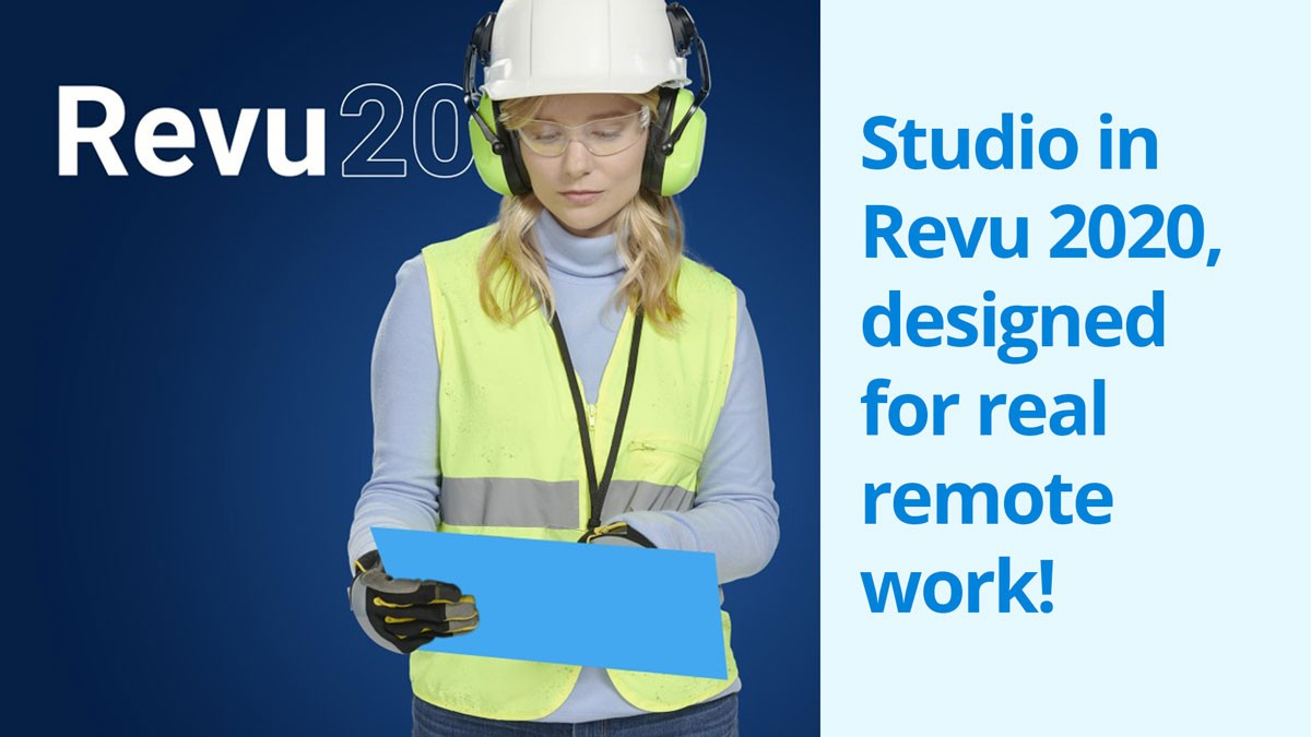 Studio in Revu 2020, designed for real remote work!